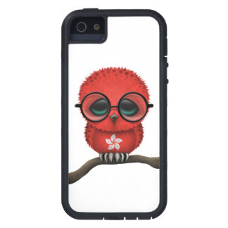 Customizable Nerdy Hong Kong Baby Owl Chic iPhone 5 Case