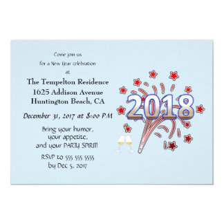 Customizable New Year party invitation