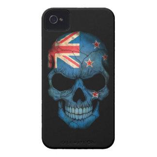 Customizable New Zealand Flag Skull iPhone 4 Covers