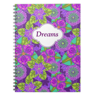 Customizable Night Orchid Purple Notebook
