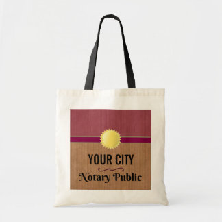 Customizable Notary Public Pride with Your City Tote Bag