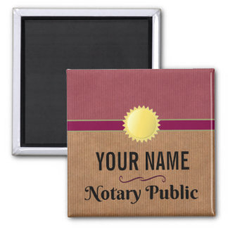 Customizable Notary Public Pride with Your Name Magnet