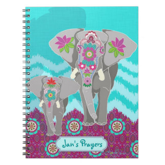 Customizable Notebook - Elephant Festival