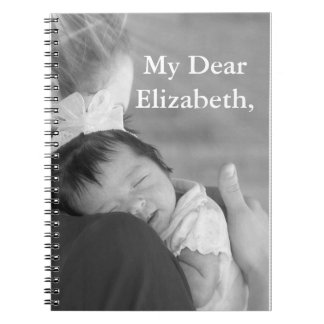 "Customizable Notebook ""To My Dear"""