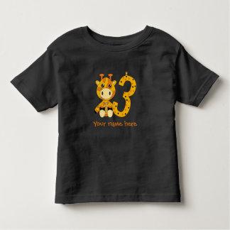 Customizable number 3 t-shirt