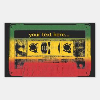 Customizable Old School Reggae Cassette Sticker