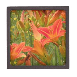 Customizable Orange Lilies Gift Box Premium Keepsake Box