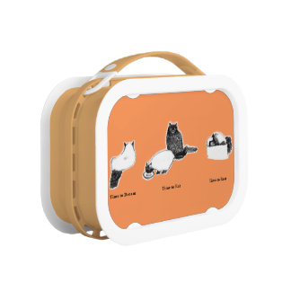 Customizable Orange yubo Lunch Box—with Cat Times Lunch Box