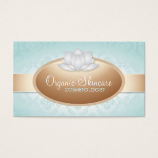 Customizable Organic Skincare Business Cards