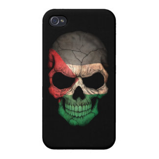 Customizable Palestinian Flag Skull Case For iPhone 4