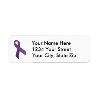 Customizable Pancreatic Cancer Address Label