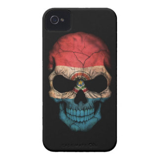 Customizable Paraguay Flag Skull iPhone 4 Covers