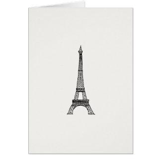 Customizable_Paris_Eiffel Tower Card