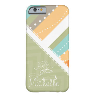 Customizable Pastel Stripes and Chevron Barely There iPhone 6 Case