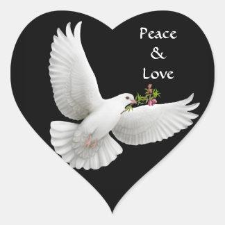 Customizable Peace Love Dove Sticker