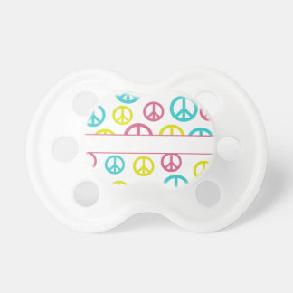 Customizable Peace Signs Pacifier