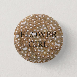 Customizable Pearls 1 Inch Round Button