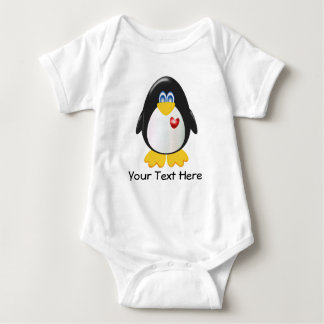 Customizable Penguin Baby Bodysuit