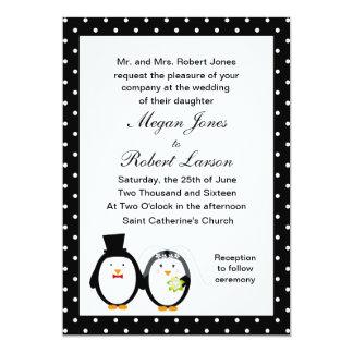 Customizable Penguin Wedding Invitation