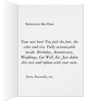 Customizable, Personalized Tulip Greeting Card