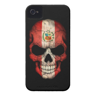 Customizable Peruvian Flag Skull iPhone 4 Cases