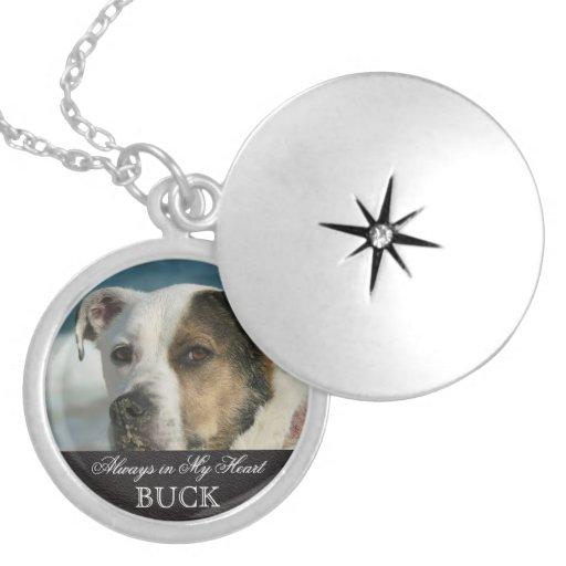 Customizable Pet Memorial Photo Keepsake Necklace