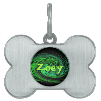 customizable pet tag - Zoey