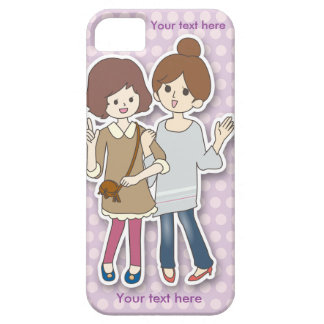 Customizable Phone Case with Two Girls