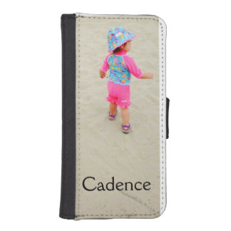 Customizable photo and name wallet case