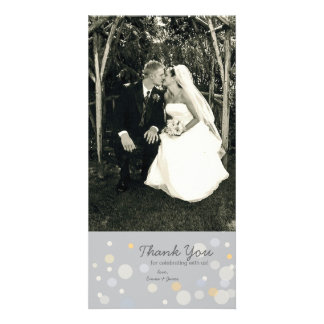 Customizable Photo Card: Champagne Bubbles Personalized Photo Card
