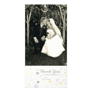 Customizable Photo Card: Champagne Bubbles Photo Greeting Card
