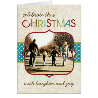 Customizable Photo Christmas Card