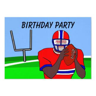 Customizable photo football party invitations AA