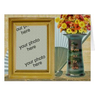 Customizable Photo Frame Fan Vase Flowers Us You Card