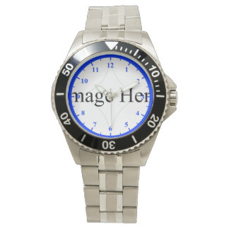 Customizable Photo, Men's Stainless Steel Watch