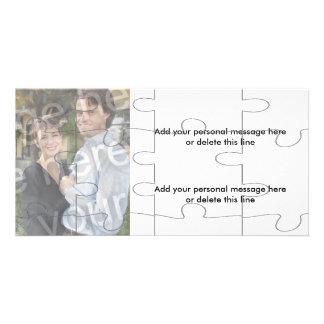 """Customizable Photo """"Mock"""" Puzzle Card - 12 pieces Personalized Photo Card"""