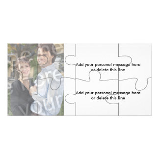 "Customizable Photo ""Mock"" Puzzle Card - 8 pieces Photo Card"