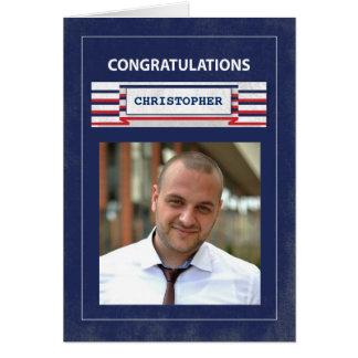 Customizable Photo, Name Firefighter Graduate Card