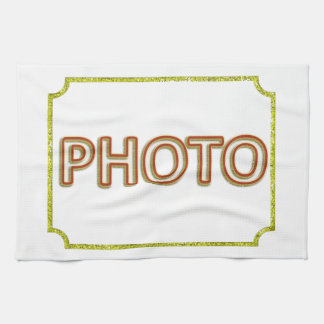 Customizable photo on kitchen towels