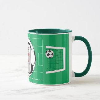 Customizable photo soccer ball photo mug