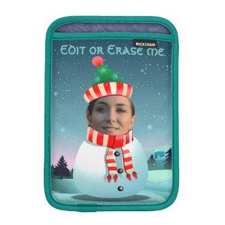 Customizable Picture Snowman iPad Mini Sleeve