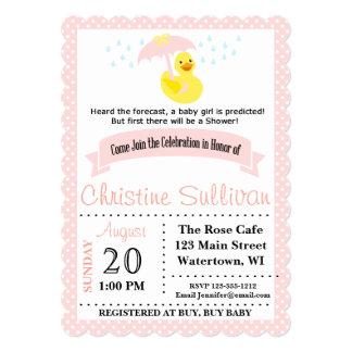 Customizable Pink Baby Girl Shower Invitation