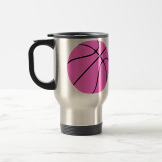 Customizable Pink Basketball Coach Traveling Mug