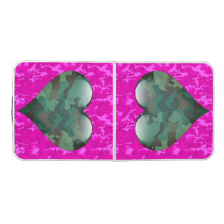 Customizable - Pink Camo Beer Pong Table
