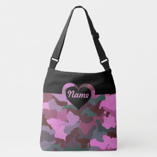 Customizable Pink Camo for Large Crossbody Bag
