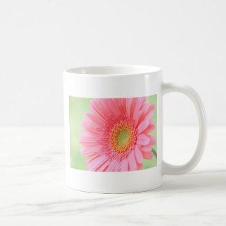 Customizable Pink Gerber Daisy Basic White Mug