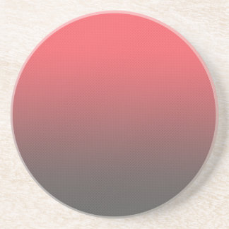 Customizable Pink Gray Ombre Background Coasters