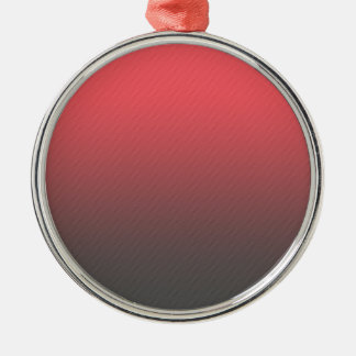 Customizable Pink Gray Ombre Background Silver-Colored Round Ornament
