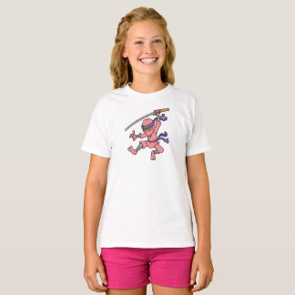 Customizable Pink Jumping Ninja T-Shirt