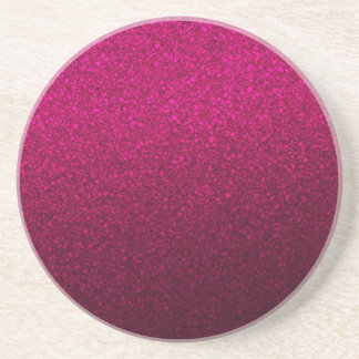 Customizable Pink Ombre Glitter Background Drink Coasters